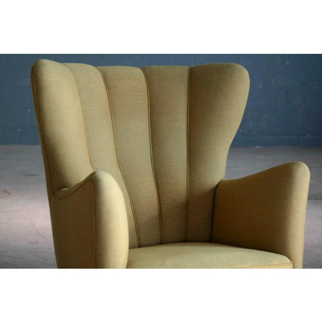 Fritz Hansen 1940s Fritz Hansen Attributed Model 1672 Variant High Back Lounge Chair For Sale - Image 4 of 11