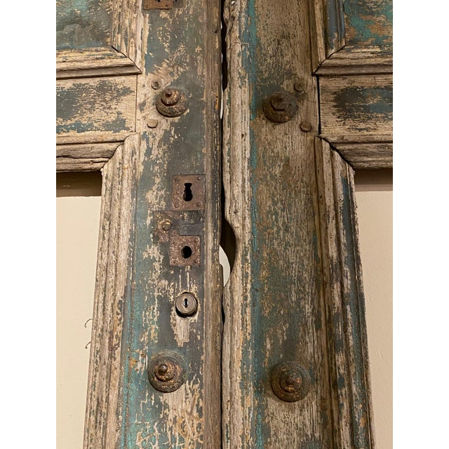 19th Century 19th Century French Blue Doors - a Pair For Sale - Image 5 of 8