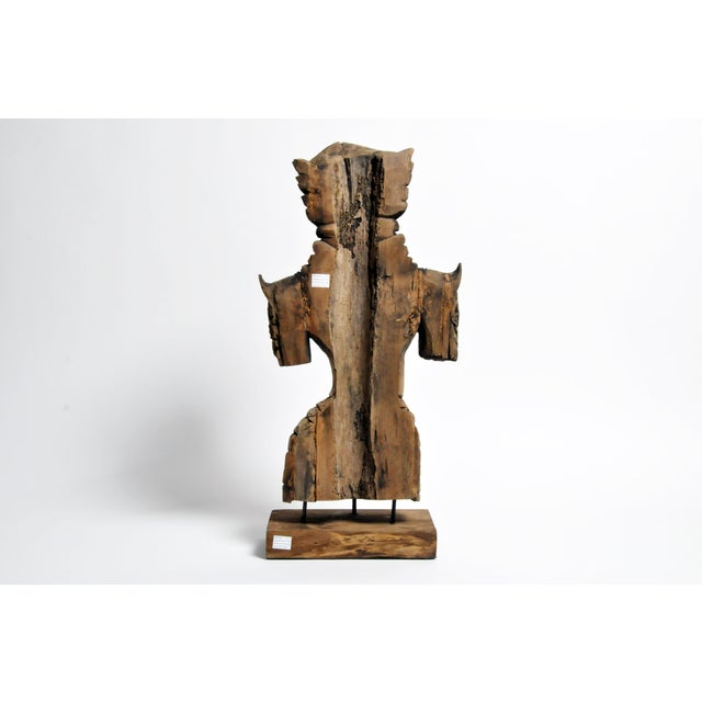 Southeast Asian Wood Carving Model of a Goddess For Sale - Image 4 of 13