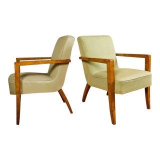 Large Mid-Century Italian Armchairs - a Pair