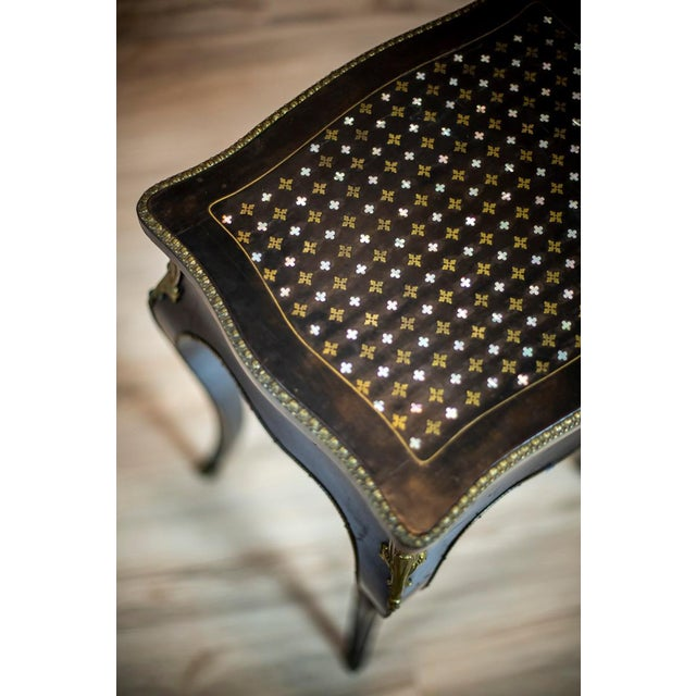 Wood 19th Century Napoleon III Mahogany Sewing Table For Sale - Image 7 of 11