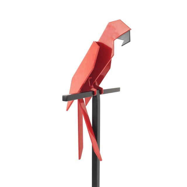 """Altmeyer and Guichard. """"Large Parrot"""", 2015. Powder coated stainless steel. Signed and numbered series of 8."""