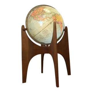 Adrian Pearsall Globe Stand With Illuminated Globe For Sale