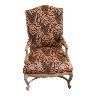 Traditional Classic Upholstered Armchair For Sale