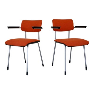 Mid-Century Modern Gispen Arm Chairs in Maharam - a Pair For Sale