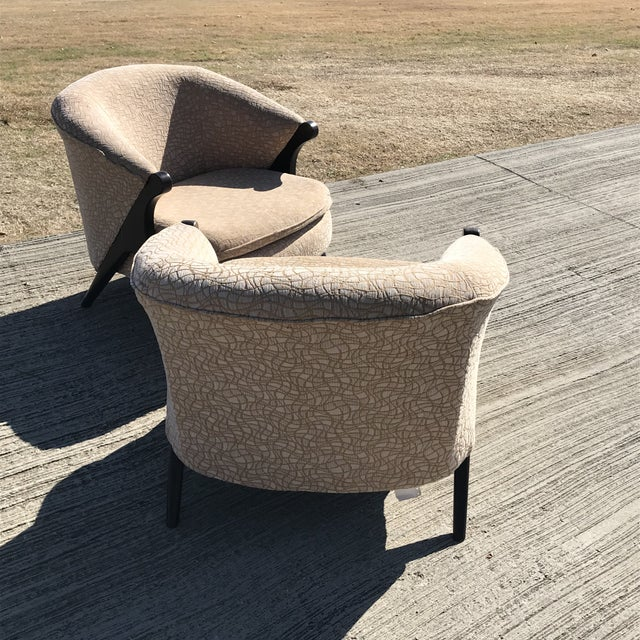 Mid Century Modern Karpen Bros Style Club Chairs - a Pair For Sale In Dallas - Image 6 of 8