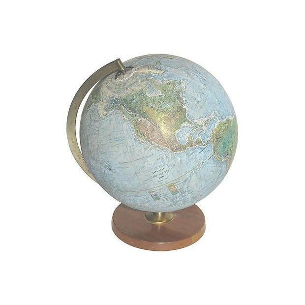 Vintage Lighted World Globe - Image 3 of 4