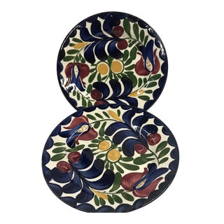 Persian Ware Decorative Plates - a Pair For Sale