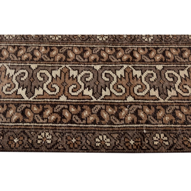 "Brown Antique Mahal Rug, 9'6"" X 13'4"" For Sale - Image 8 of 10"