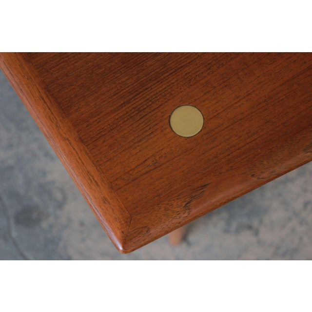 Brown Swedish Modern Teak and Brass Side Table by Dux For Sale - Image 8 of 10