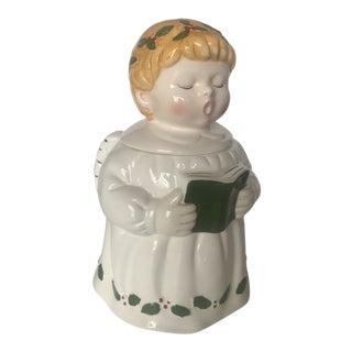 Vintage Singing Angel Ceramic Cookie Jar For Sale