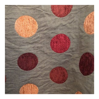 Tyler Hall Red & Burgundy Circles on Creamy Background Fabric For Sale