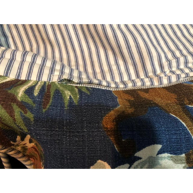 Rustic Bloomcraft Cowboy Western Barkcloth Custom Pillowcases - A Pair For Sale - Image 3 of 5