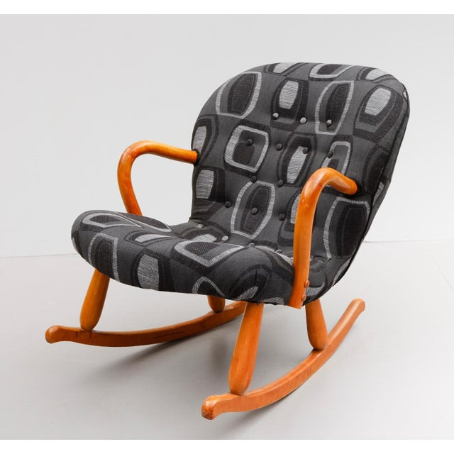 "Mid-Century Modern ""Clam"" Chair/Rocking Chair by Philip Arctander For Sale - Image 3 of 5"
