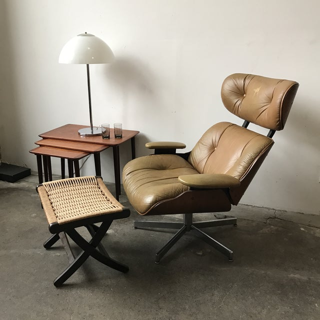 Vintage Brown Leather Plycraft Lounge Chair - Image 7 of 10