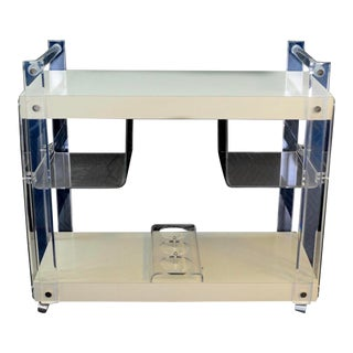 Mid Century Lucite Bar Cart For Sale