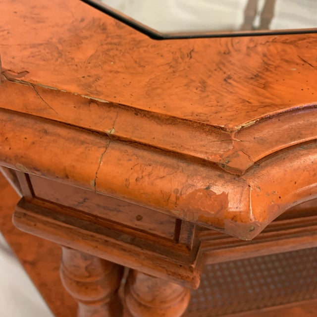 Orange Chinese Chippendale Coffee Table For Sale - Image 10 of 13