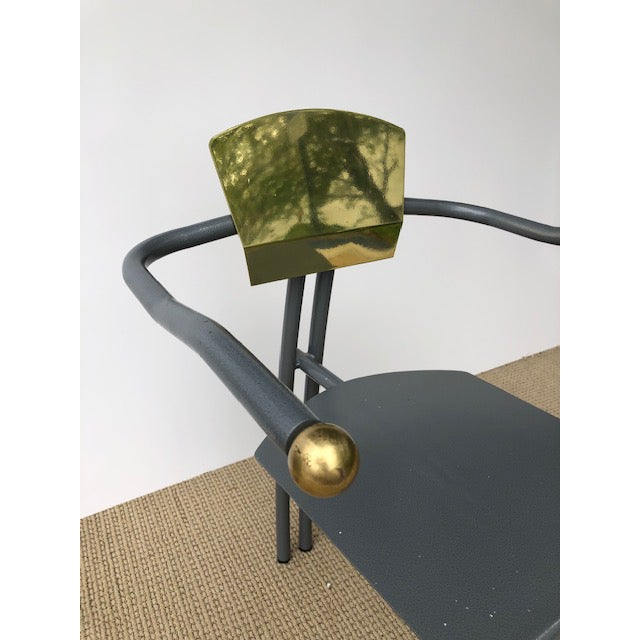 1980s Vintage Sculptural Memphis Style Arm Chair For Sale In Miami - Image 6 of 9