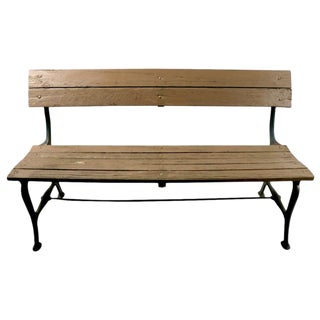 Cast Iron and Wood Park Bench For Sale