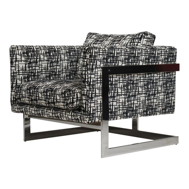 Milo Baughman for Thayer Coggin Chrome Lounge Chair For Sale