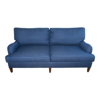 C.R. Laine Blue Custom Couch For Sale