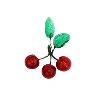 Italian Alabaster/Murano Glass Cherries For Sale