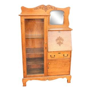 1930s Victorian Secretary Desk/Cabinet For Sale