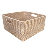 Image of Artifacts Rattan Square Storage Basket For Sale