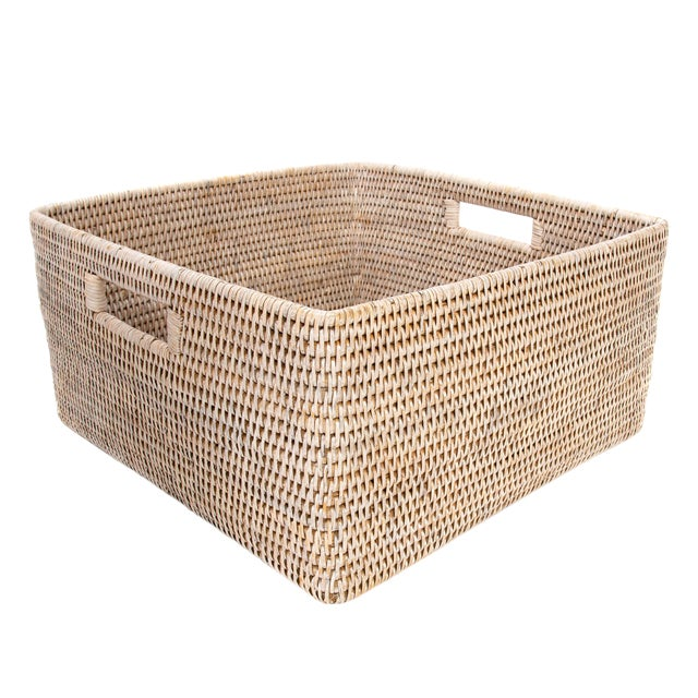 Artifacts Rattan Square Storage Basket For Sale