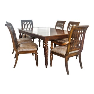 Transitional Bernhardt Meets Ethan Allen Dining Set - 7 Pieces For Sale