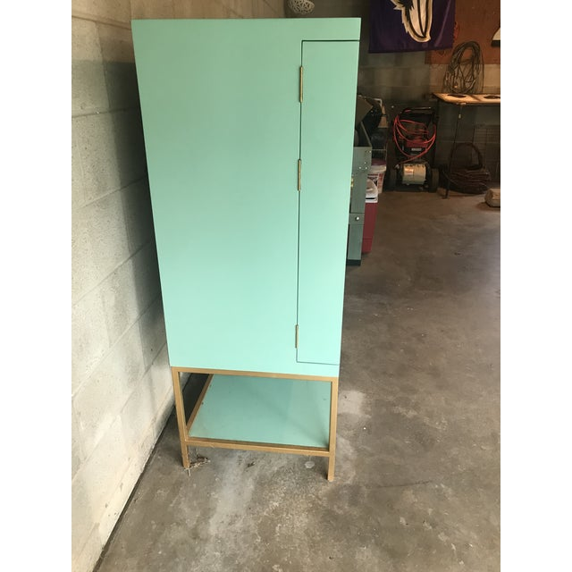 Green Mid Century Modern Lacquered Storage Cabinet For Sale - Image 8 of 13