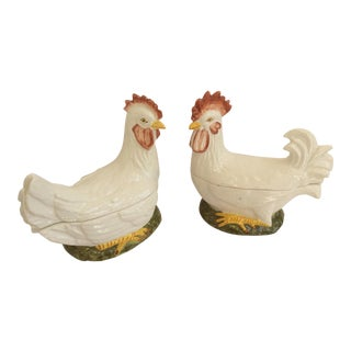 Vintage Chickens Boxes - A Pair