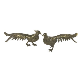 Pair of Brass Pheasants For Sale