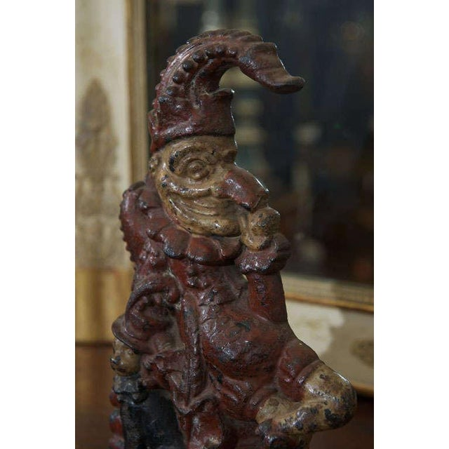 Painted Cast Iron Door Stop depicting Punch and his dog, Toby For Sale In San Francisco - Image 6 of 8