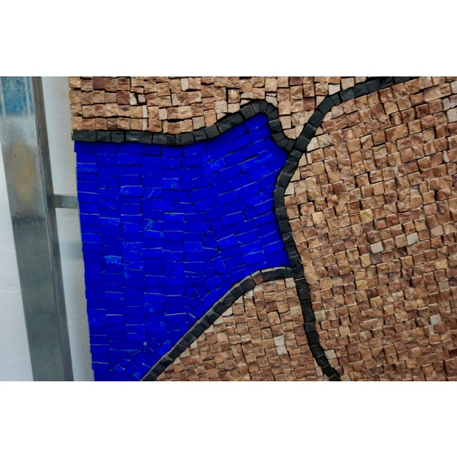 1970s Figurative Abstract Mosaic Glass Sculpture by Massimomiliano Beltrame, Framed For Sale - Image 4 of 7
