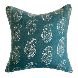 Peter Dunham Fabric Pillow With Natural Linen Backing For Sale