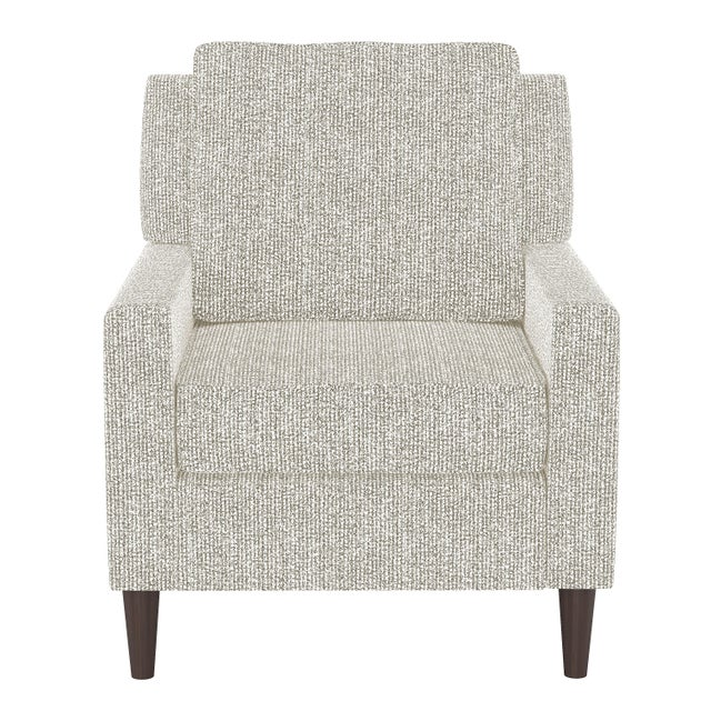 Textile Armchair in Solitude Natural For Sale - Image 7 of 7
