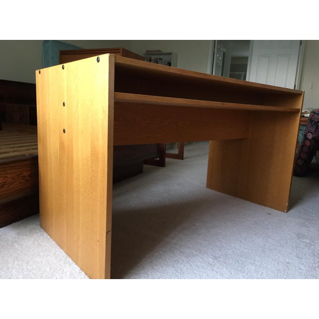 Mid 20th Century Danish Modern Mid-Century Teak & White Two-Drawer Desk For Sale - Image 5 of 13