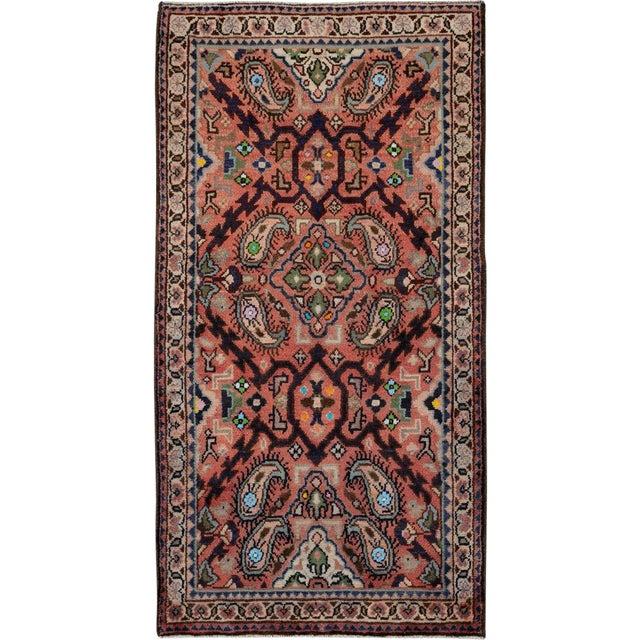 "Vintage Persian Hamadan Rug – Size: 2' 4"" X 4' 5"" For Sale"