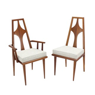 Set of Six Swedish Dining Chairs New Upholstery For Sale