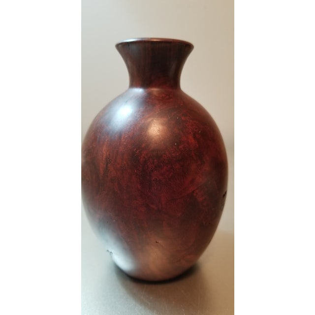 Contemporary Burl Wood Bud Vase For Sale - Image 3 of 7