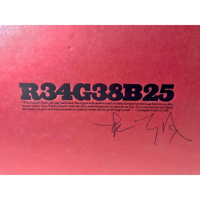 2000 - 2009 R34g38b25 by Christopher Doyle For Sale - Image 5 of 5