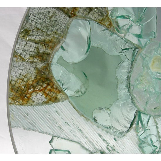 Large Free Standing Glass Sculpture by Kamp - Image 5 of 8