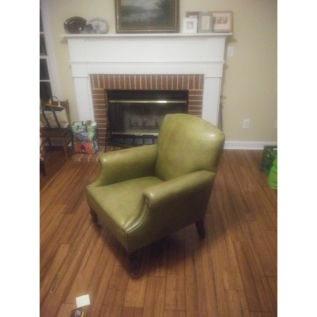 George Smith Green Club Chair For Sale - Image 11 of 12