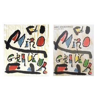 Joan Miro, Engravings Volume II & III For Sale