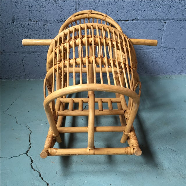 Vintage Child's Rattan Rocking Toy - Image 5 of 11
