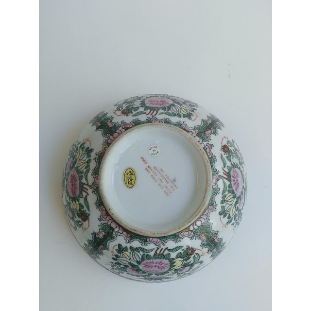 Asian 1970s Chinoiserie White Ironstone Decorative Bowl For Sale - Image 3 of 6
