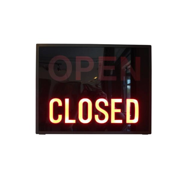 'Open / Closed' Illuminated LED Light Box, Circa 1980s - Image 2 of 6