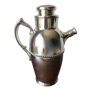 Vintage Large Silver Cocktail Shaker-Poole Silver Co. For Sale