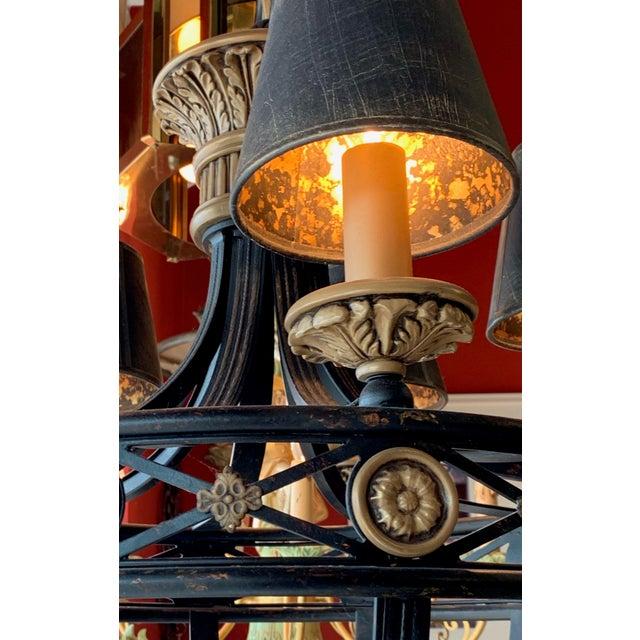 Metal Fine Art Lighting Chandelier Bronze & Gold 5 Lights For Sale - Image 7 of 13
